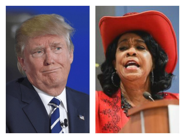 Image result for trump and Frederica Wilson