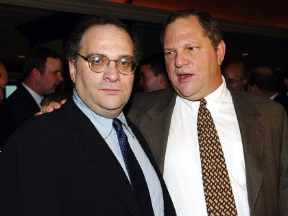 LOS ANGELES - SEPTEMBER 25: Honorees Bob and Harvey Weinstein arrive at the 29th Annual Dinner of Champions benefiting The National Multiple Sclerosis Society at the Century Plaza Hotel on September 25, 2003 in Los Angeles, California. (Photo by Kevin Winter/Getty Images)