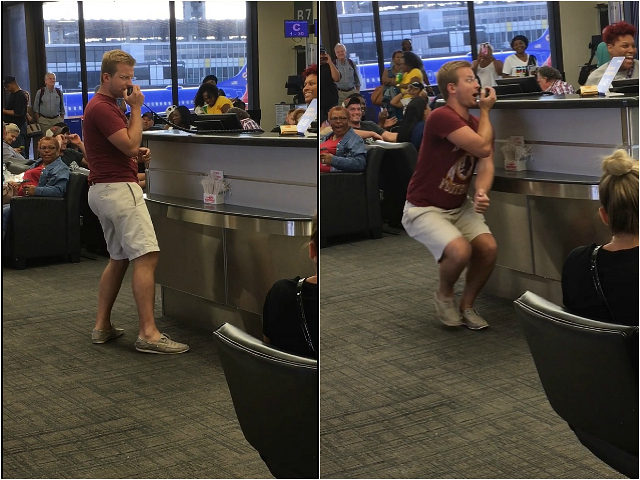Airline Passenger Grabs Mic at Boarding Gate, Turns Flight Delay into Karaoke Session