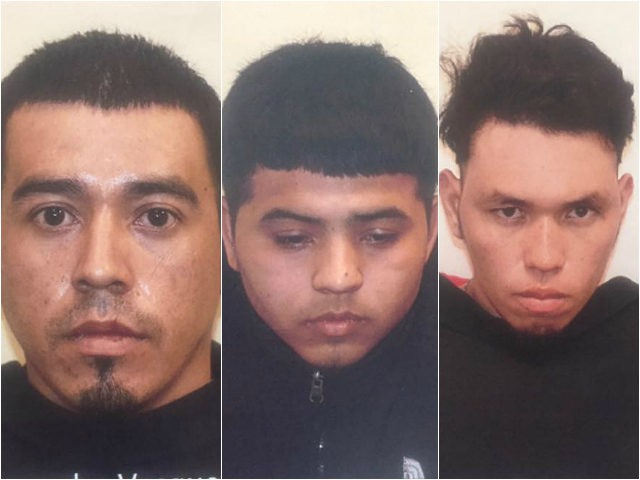 The three alleged gang members are Victor Rodas, Jose Coreas-Ventura, and Lisandro Posada-Vasquez.