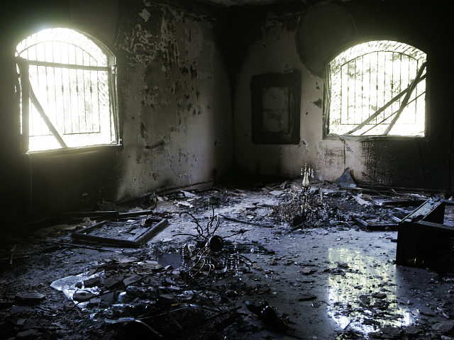 A picture shows the damage inside the burnt US consulate building in Benghazi on September 13, 2012, following an attack on the building late on September 11 in which the US ambassador to Libya and three other US nationals were killed. Libya said it has made arrests and opened a probe into the attack, amid speculation that Al-Qaeda rather than a frenzied mob was to blame. AFP PHOTO/GIANLUIGI GUERCIA (Photo credit should read GIANLUIGI GUERCIA/AFP/GettyImages)