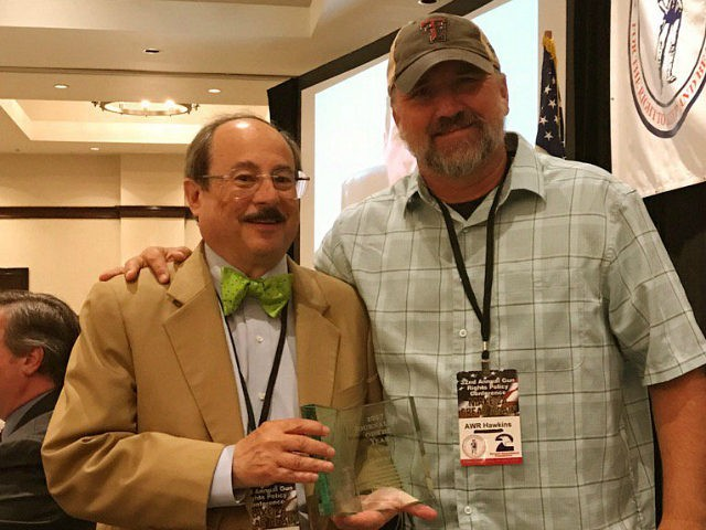 AWR Hawkins Wins Journalist of the Year at 32nd Annual Gun Rights Policy Conference