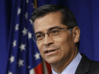 FILE - In this May 3, 2017, file photo, California Attorney General Xavier Becerra answers a question during a news conference in Sacramento, Calif. The top lawyers for 19 states will urge a federal judge Monday, Oct. 23, 2017, to force President Donald Trump's administration to pay health care subsidies …