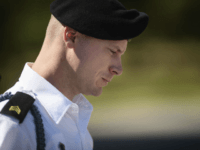 FILE- In this Sept. 27, 2017, file photo, Army Sgt. Bowe Bergdahl leaves a motions hearing during a lunch break in Fort Bragg, N.C. Bergdahl is expected to plead guilty on Monday, Oct. 16, to charges that he endangered comrades by walking away from a remote post in Afghanistan in …