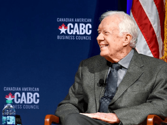 Former president Jimmy Carter, seen here at a June 15m 2017 event at the Carter Center in Atlanta, has offered to go to North Korea to try to lower tensions, if asked by the White HouseA