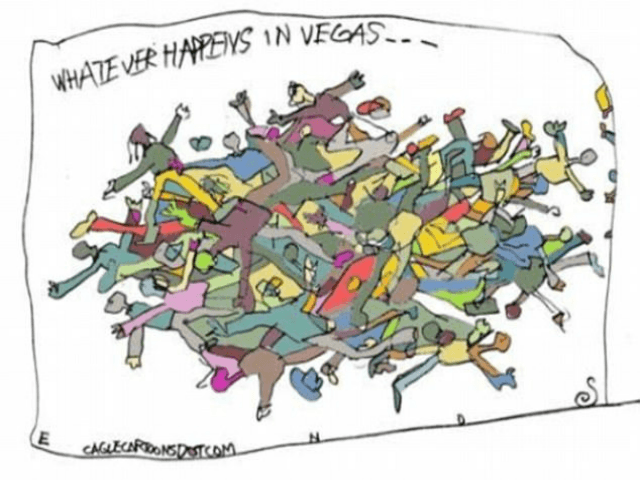 Las Vegas massacre cartoon