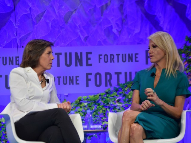 photo image Kellyanne Conway Easily Pins Feminist Tag-Team at Fortune's 'Most Powerful Women' Event