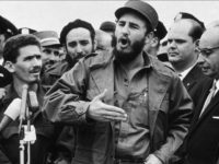 28th September 1960: Cuban president Fidel Castro speaks to reporters after attending the UN General Assembly meeting, New York City. (Photo by New York Times Co./Getty Images)