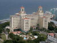 HAVANA, CUBA - FEBRUARY 27: The historic Hotel Nacional de Cuba is seen in the early morning on February 27, 2015 in Havana, Cuba. Today in Washington D.C, the second round of diplomatic talks between U.S. and Cuban officials took place is an effort to restore full diplomatic relations and …