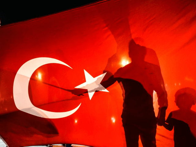 Pro-Erdogan supporters gather at Taksim Square in Istanbul following a failed coup attempt, on July 16, 2016