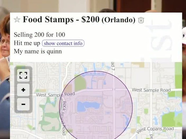 Craigslist Ads Illegally Selling Food Assistance Cards In Florida
