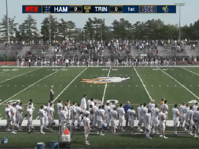 Trinity Football Players, Fans Sing National Anthem When PA System Malfunctions