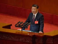 Chinese President Xi Jinping delivers a speech at the opening ceremony of the 19th Party Congress held at the Great Hall of the People in Beijing, China, Wednesday, Oct. 18, 2017. Having bested his rivals, Xi is primed to consolidate his already considerable power as the ruling Communist Party begins …