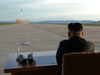 TOPSHOT - This undated picture released from North Korea's official Korean Central News Agency (KCNA) on September 16, 2017 shows North Korean leader Kim Jong-Un inspecting a launching drill of the medium-and-long range strategic ballistic rocket Hwasong-12 at an undisclosed location. Kim vowed to complete North Korea's nuclear force despite …