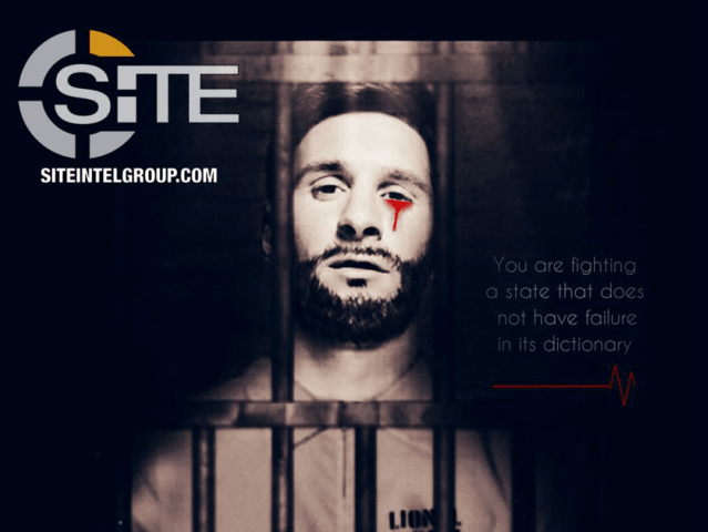 Pro-#ISIS media unit Wafa' Foundation continues to threaten 2018 FIFA #WorldCup, this time using an image of #LionelMessi in a prison outfit