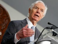 WASHINGTON, DC - JUNE 14: U.S. Sen. Thad Cochran (R-MS) speaks at 'Making AIDS History: A Roadmap for Ending the Epidemic' at the Hart Senate Building on June 14, 2017 in Washington, DC. (Photo by Paul Morigi/Getty Images)