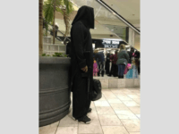 A man wearing what some believed was an ISIS-inspired Halloween costume, complete with a toy rifle, sparked panic in a Nebraska mall on Friday — though he insists it was all a misunderstanding.