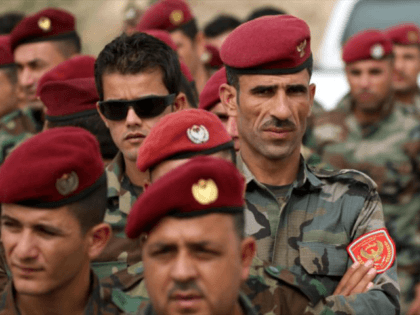 Kurdish peshmerga forces, show here voting in last month's independence referendum, are reported to have blocked roads from other parts of Iraq to the autonomous Kurdistan region