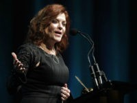 Rosanne Cash speaks at The Nashville Songwriters Hall of Fame Dinner and Induction Ceremony at the Music City Center on Sunday, Oct. 11, 2015, in Nashville, Tenn. (Photo by Wade Payne/Invision/AP)