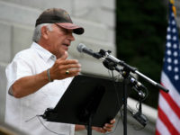 DENVER, CO - July 01: Former U.S. Congressman Tom Tancredo speaks during a pro-Donald Trump rally on the west steps of the Colorado State Capitol July 01, 2016. The GOP Presidential Candidate was in town for the Western Conservative Summit. (Photo by Andy Cross/The Denver Post via Getty Images)