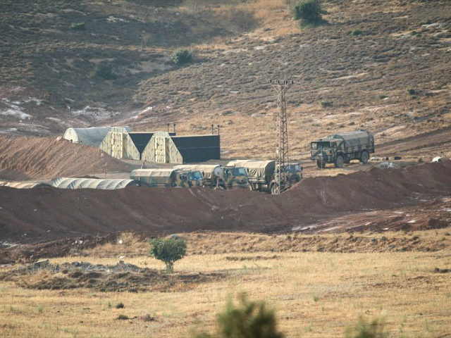 HATAY, TURKEY - OCTOBER 9: Turkish Army's armoured vehicles are seen at Reyhanli border due to the transition to Idlib, de-conflict zone, in Hatay, Turkey on October 9, 2017. (Photo by Burak Milli/Anadolu Agency/Getty Images)