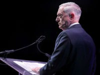 WASHINGTON, DC - OCTOBER 09: U.S. Defense Secretary James Mattis delivers the keynote address during the Association of the United States Army's annual meeting and exposition at the Washington Convention Center October 9, 2017 in Washington, DC. The 2017 expo's theme is 'Building Readiness: America's Army from the Great War …