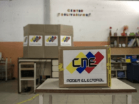 A ballot box sits in a polling center during the elections for a constituent assembly in the Capital district of Caracas, Venezuela, on Sunday, July 30, 2017. This vote, which was convened by President Nicolas Maduro, is the first step in a potential overhaul of the country's constitution which threatens …