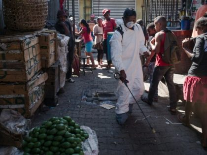 Disinfectant spray is a frontline weapon in the fight against Madagascar's plague outbreak