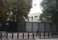 The United States Embassy in Ankara has been a flashpoint for a visa row with Turkey