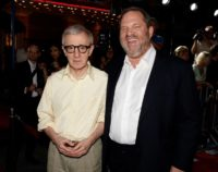 Woody Allen, seen here ith Harvey Weinstein in 2oo8, says he fells 'sad' for the film producer
