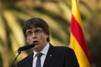 """Catalan leader Carles Puigdemont has said he wants to meet with the Spanish prime minister """"as soon as possible"""" over the independence crisis"""
