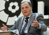 "Javier Tebas, president of La Liga, said the team would delay the tender process to ""wait and see"" how the Catalonia crisis plays out in Spain"
