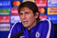 Chelsea's Italian head coach Antonio Conte give a press conference at Chelsea's Cobham training facility in Stoke D'Abernon, southwest of London, on October 17, 2017