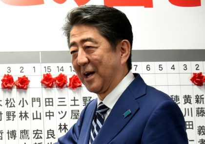 Abe cruises to 'super-majority' win in Japan vote