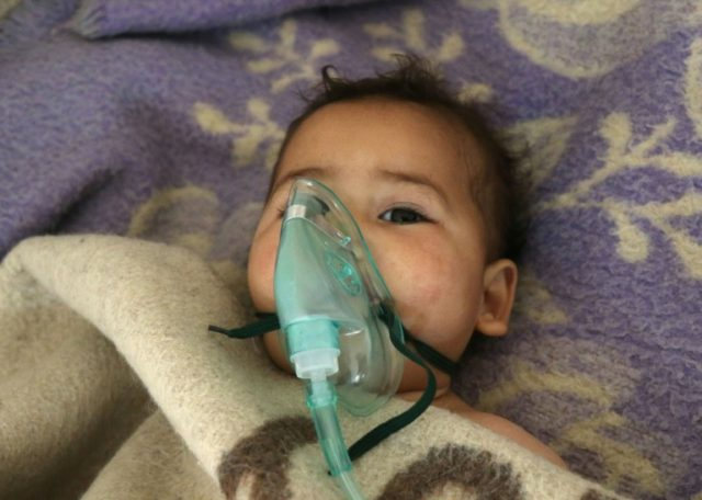 This Syrian child was among the victims of a suspected sarin gas attack in Khan Sheikhun on April 4, which a UN report has blamed on the regime of Bashar al-Assad