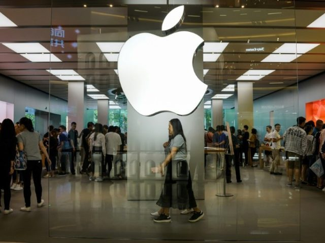 An Apple showroom in Shanghai: a slump in China sales has temporarily ended, according to a report