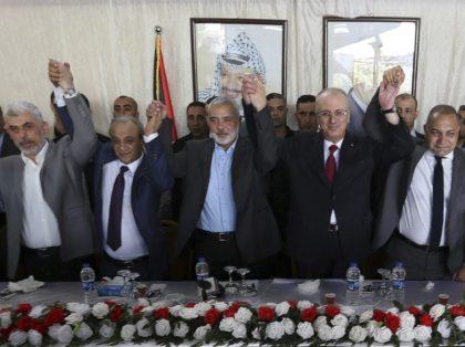 Yahya Sinwar, Majid Faraj, Ismail Haniyeh, Rami Hamdallah