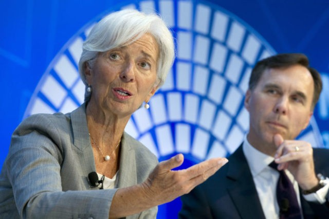 Christine Lagarde, William Morneau,