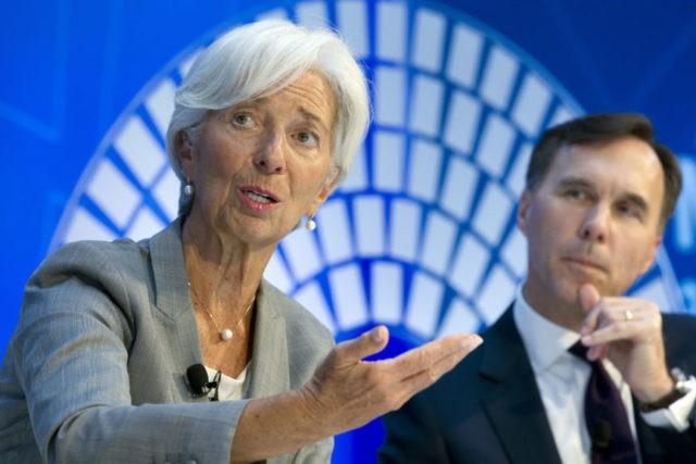 Christine Lagarde, William Morneau,