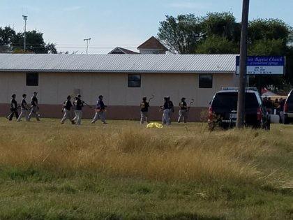 FBI investigators at First Baptist Church in Sutherland Springs, Texas.