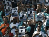 AP Lynne Sladky Fans Protest