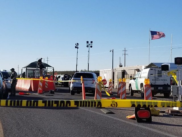 In this Wednesday, May 17, 2017, photo provided by the Tucson Sector Public Affair, an immigration checkpoint is set up north of Tombstone, Ariz. The Border Patrol says an elderly man is recovering from a gunshot wound to the arm after a shootout with agents outside the checkpoint on State …