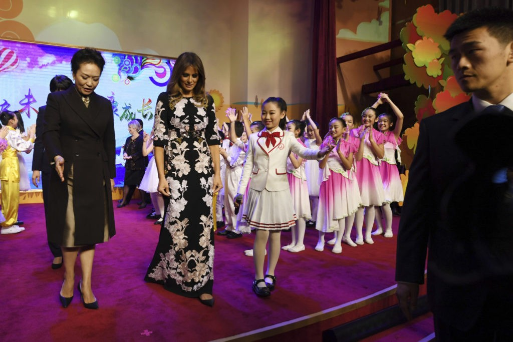 Fashion Notes Melania Trump Stuns In China In Asia