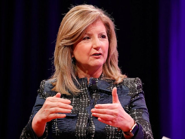 WASHINGTON, DC - OCTOBER 10: Thrive Global founder and CEO Arianna Huffington speaks onstage at the Fortune Most Powerful Women Summit - Day 2 on October 10, 2017 in Washington, DC. (Photo by Paul Morigi/Getty Images for Fortune)