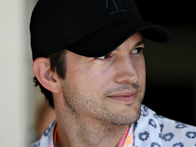 BUDAPEST, HUNGARY - JULY 30: Actor Ashton Kutcher look on in the Paddock during the Formula One Grand Prix of Hungary at Hungaroring on July 30, 2017 in Budapest, Hungary. (Photo by Mark Thompson/Getty Images)