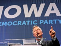 Actor Alec Baldwin speaks during the Iowa Democratic Party's Fall Gala, Monday, Nov. 27, 2017, in Des Moines, Iowa. (AP Photo/Charlie Neibergall)