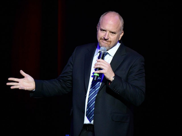 Louis C.K. performs on stage as The New York Comedy Festival and The Bob Woodruff Foundation present the 10th Annual Stand Up for Heroes event at The Theater at Madison Square Garden on November 1, 2016 in New York City. (Photo by Kevin Mazur/Getty Images for The Bob Woodruff Foundation)