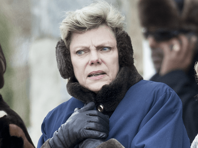 News commentator and journalist Cokie Roberts leaves after the funeral of Sargent Shriver at Our Lady of Mercy Catholic Church January 22, 2011 in Potomac, Maryland. Robert Sargent Shriver Jr., a politician and activist who was the first leader of the Peace Corps and was involved in other social programs, …