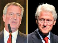 DeBlasio and Clinton Split