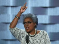 Interim chair of the Democratic National Committee, Donna Brazile delivers remarks on the second day of the Democratic National Convention at the Wells Fargo Center, July 26, 2016 in Philadelphia, Pennsylvania. Democratic presidential candidate Hillary Clinton received the number of votes needed to secure the party's nomination. An estimated 50,000 people are expected in Philadelphia, including hundreds of protesters and members of the media. The four-day Democratic National Convention kicked off July 25. (Photo by Alex Wong/Getty Images)